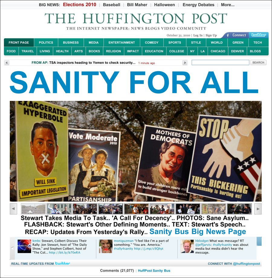 Chamomile Tea Party Posters on Cover of Huffington Post